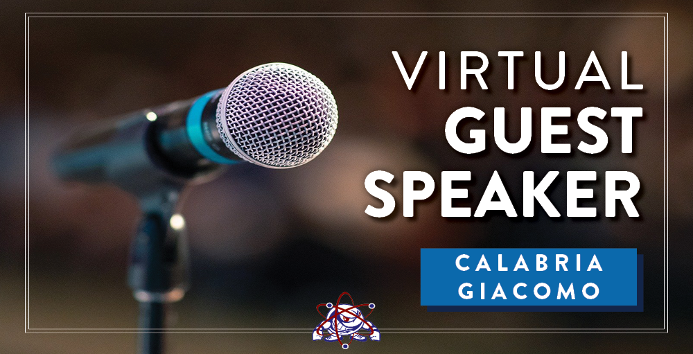 Utica Academy of Science high school invites author Calabria Giacomo to be a virtual guest speaker as part of its Career Exploration series on Tuesday, March 23rd at 11:00 AM over Zoom.