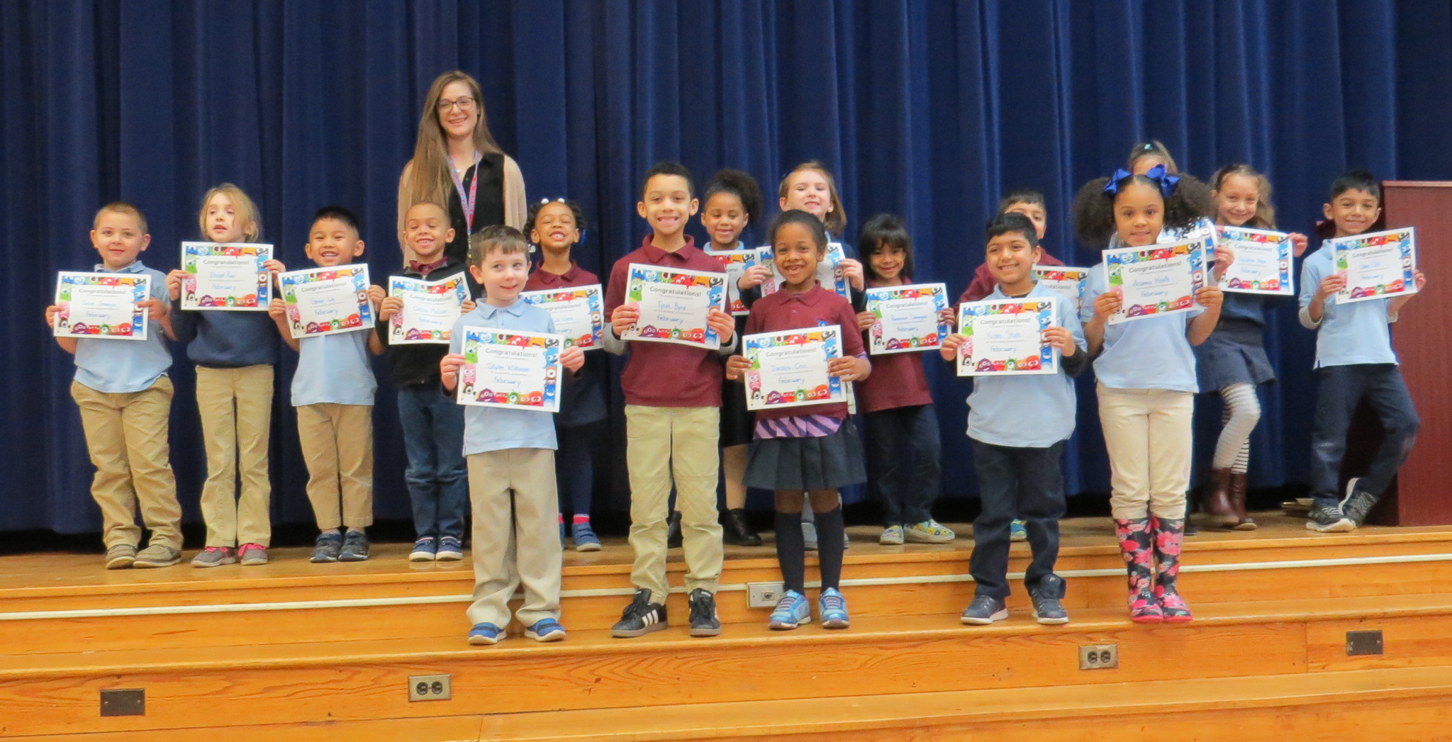 Students Honored at March Assembly