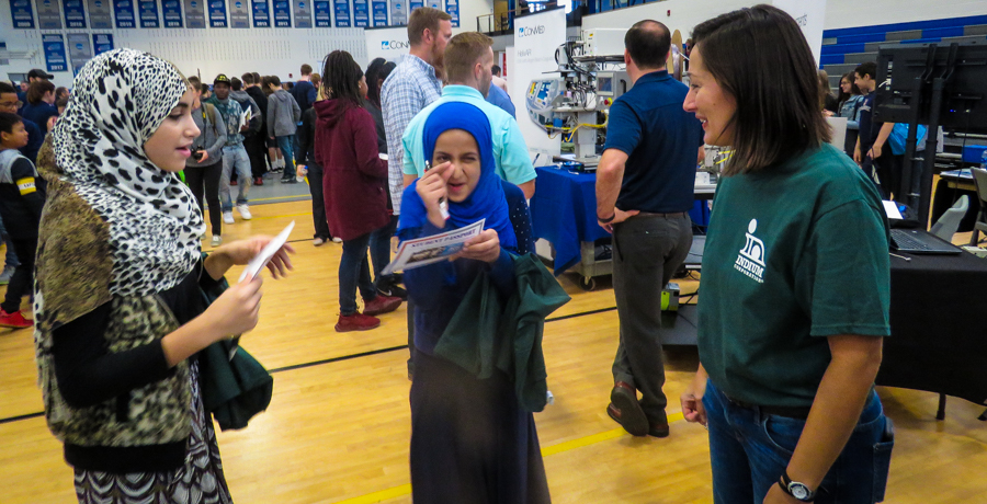 Seventh-Grade #UASAtoms attend Manufacturing Day at SUNY POLY