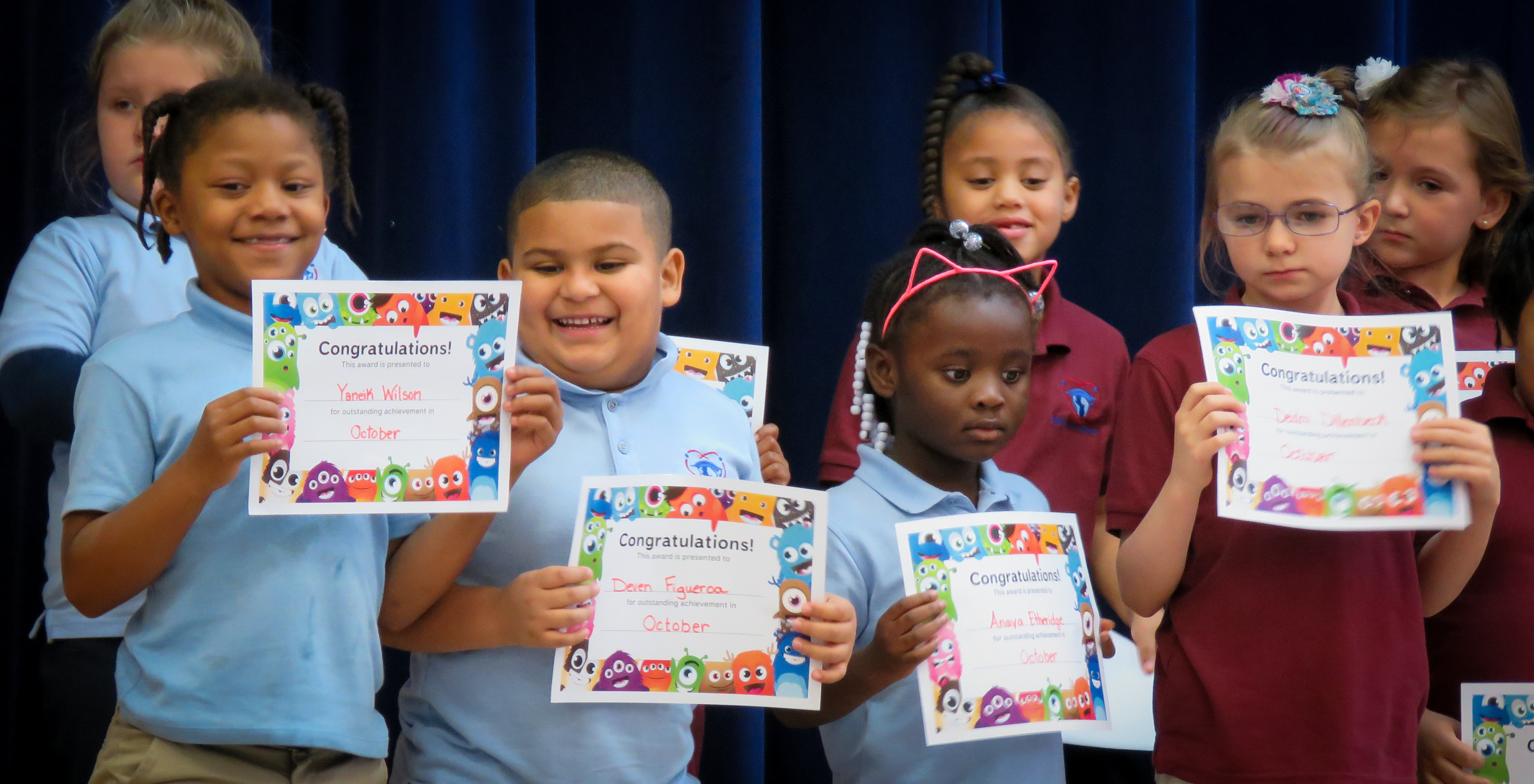 November Awards Ceremony at #UASCS Elementary