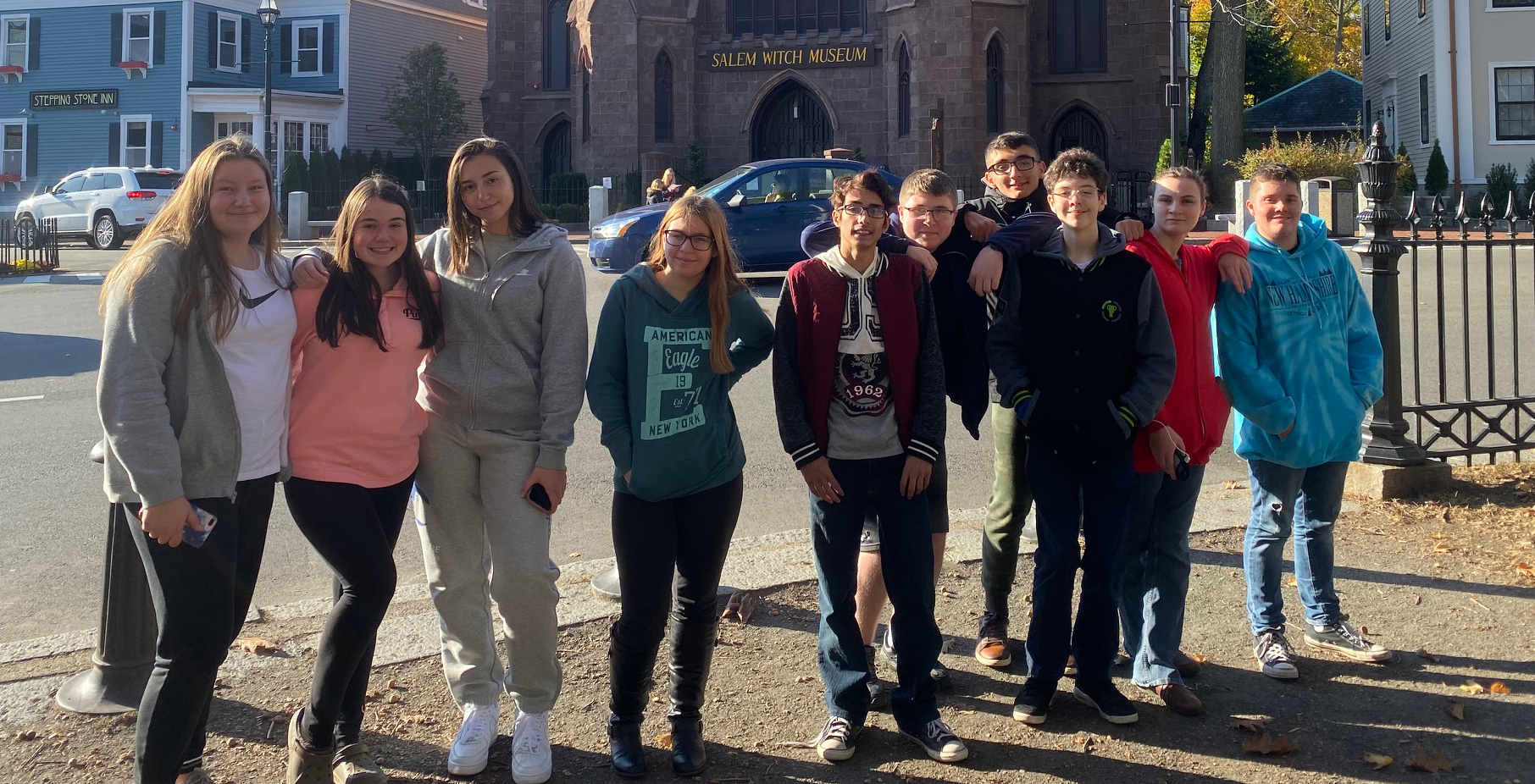 High school Atoms visit Salem, Massachusetts after reading the play, The Crucible written by Arthur Miller