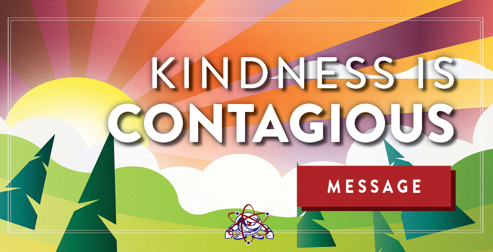 Utica Academy of Science high school teachers, faculty and staff share an inspiring message titled, Kindness is Contagious, in efforts to inspire students to continue to perform simple acts of kindness daily.
