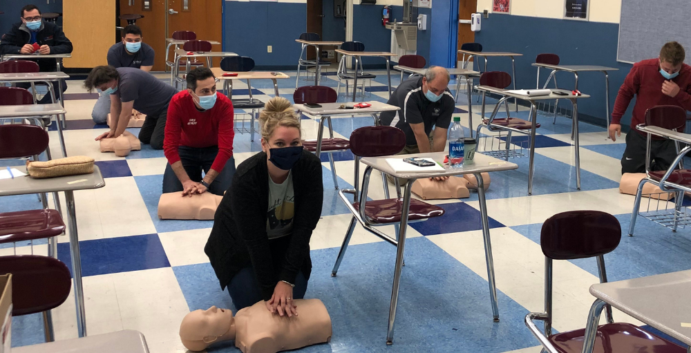 The health and safety of all Utica Academy of Science students, faculty and staff are of utmost importance, the UASCS administration team received First Aid and CPR training to become officially certified.