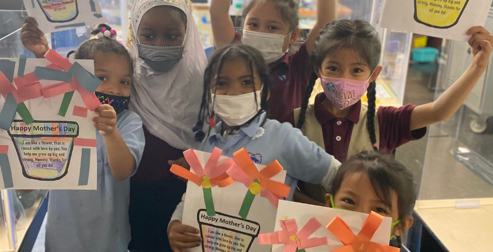 Utica Academy of Science elementary school Atoms created homemade Mother's Day cards to thank and celebrate the wonderful women in their lives.